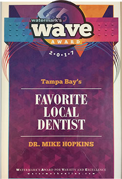 Tampa Bays Favorite Local Dentist Award image